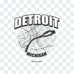 Detroit, Michigan, logo artwork Stock Photo