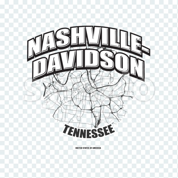 Nashville, Tennessee, logo artwork Stock Photo
