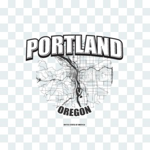 Portland, Oregon, logo artwork Stock Photo