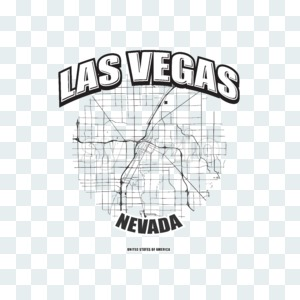 Las Vegas, Nevada, logo artwork Stock Photo