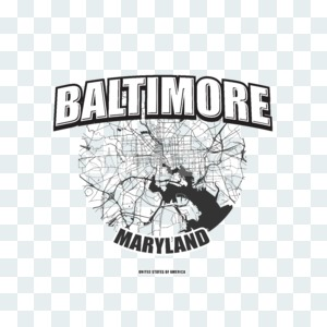 Baltimore, Maryland, logo artwork Stock Photo
