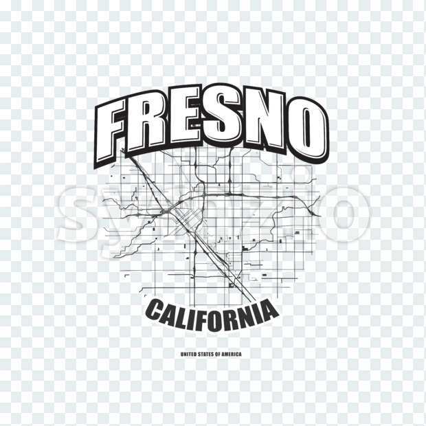 Fresno, California, logo artwork Stock Photo