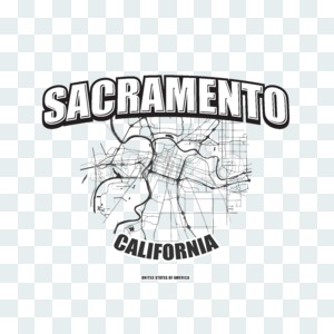 Sacramento, California, logo artwork Stock Photo