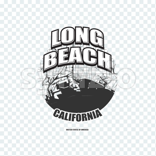 Long Beach, California, logo artwork Stock Photo