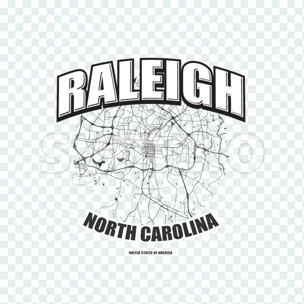 Raleigh, North Carolina, logo artwork Stock Photo