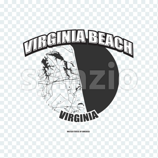 Virginia Beach, Virginia, logo artwork Stock Photo