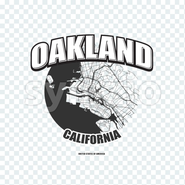 Oakland, California, logo artwork Stock Photo