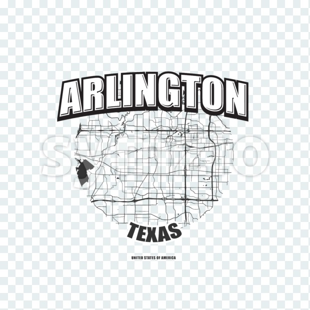 Arlington, Texas, logo artwork Stock Photo