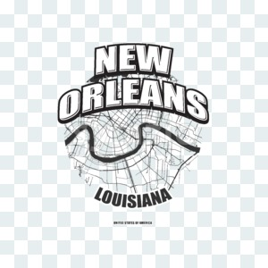 New Orleans, Louisiana, logo artwork Stock Photo