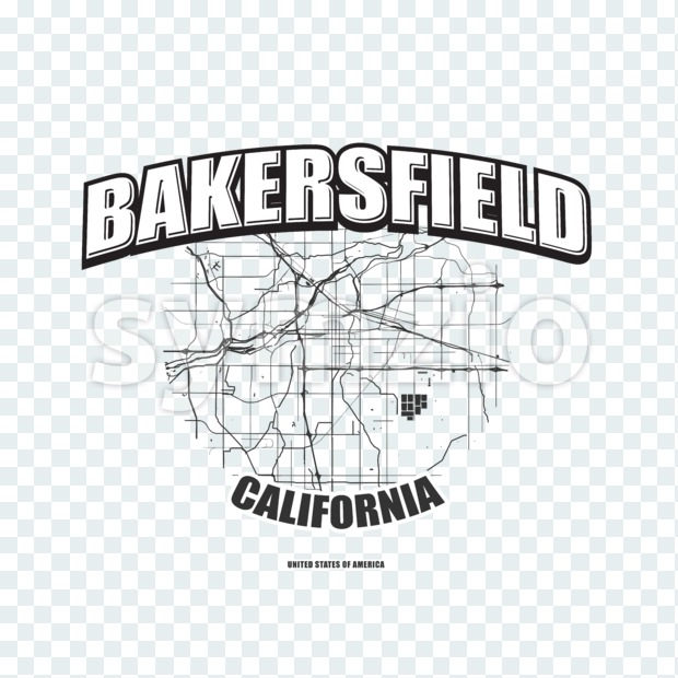 Bakersfield, California, logo artwork Stock Photo