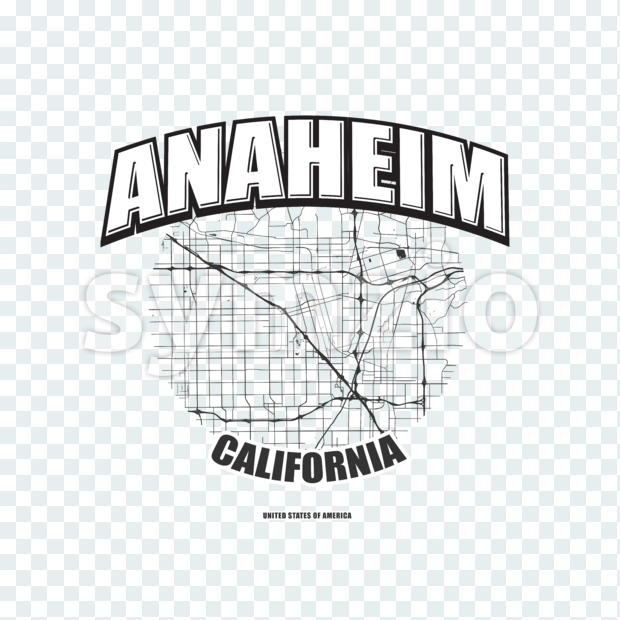 Anaheim, California, logo artwork Stock Photo