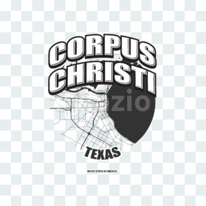 Corpus Christi, Texas, logo artwork Stock Photo