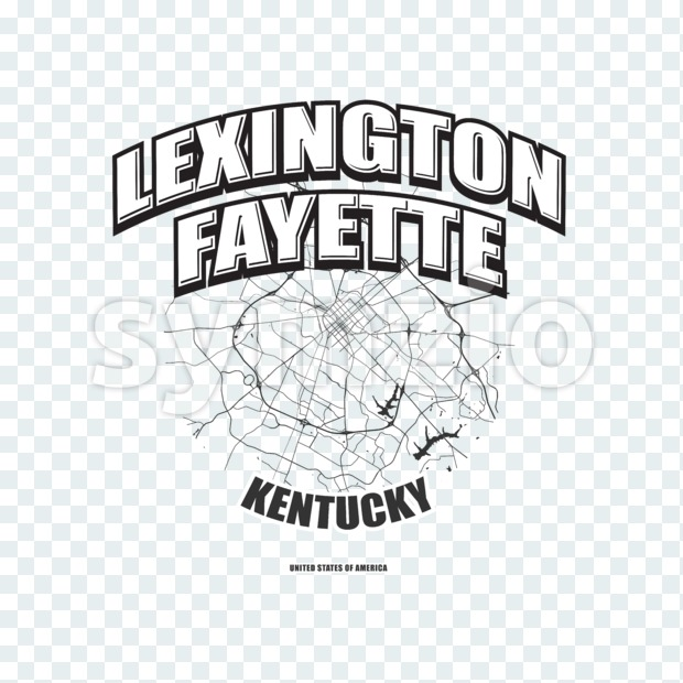 Lexington, Kentucky, logo artwork Stock Photo