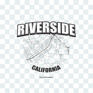 Riverside, California, logo artwork Stock Photo