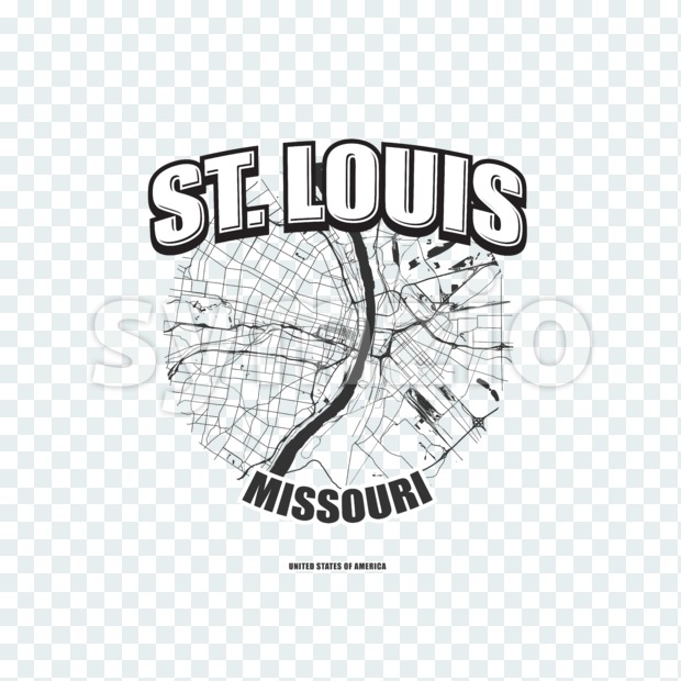 St. Louis, Missouri, logo artwork Stock Photo