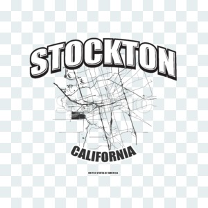Stockton, California, logo artwork Stock Photo
