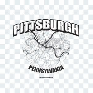 Pittsburgh, Pennsylvania, logo artwork Stock Photo