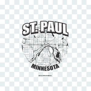 Saint Paul, Minnesota, logo artwork Stock Photo