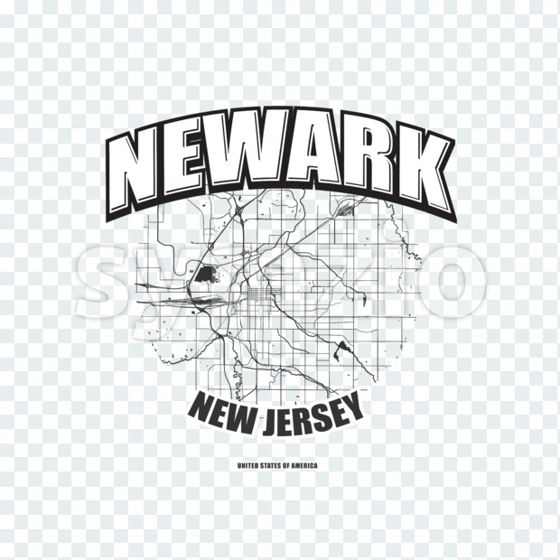 Newark, New Jersey, logo artwork Stock Photo