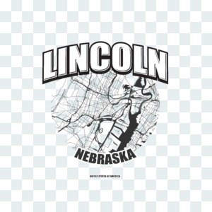 Lincoln, Nebraska, logo artwork Stock Photo
