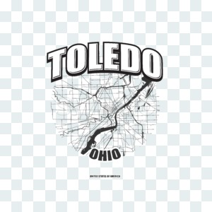 Toledo, Ohio, logo artwork Stock Photo