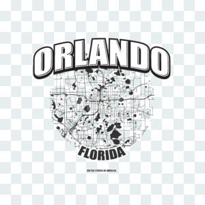 Orlando, Florida, logo artwork Stock Photo