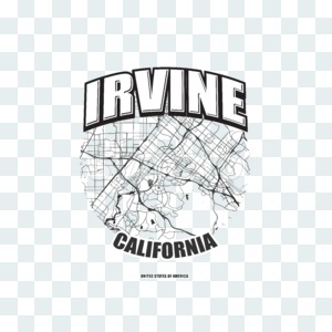 Irvine, California, logo artwork Stock Photo