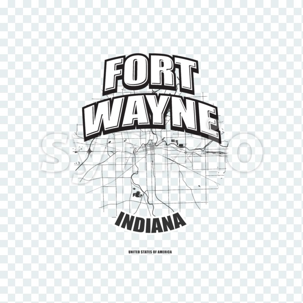 Fort Wayne, Indiana, logo artwork Stock Photo
