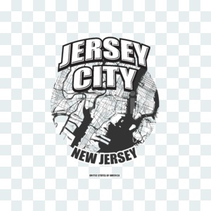 Jersey City, New Jersey, logo artwork Stock Photo