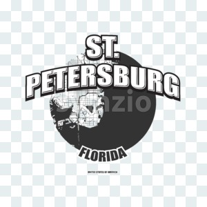 St. Petersburg, Florida, logo artwork Stock Photo