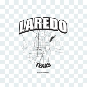 Laredo, Texas, logo artwork Stock Photo