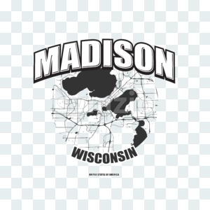 Madison, Wisconsin, logo artwork Stock Photo