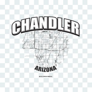 Chandler, Arizona, logo artwork Stock Photo