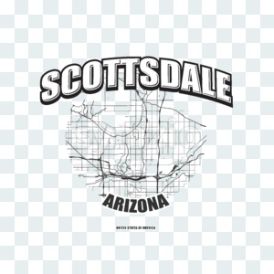 Scottsdale, Arizona, logo artwork Stock Photo