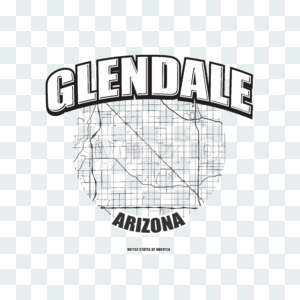 Glendale, Arizona, logo artwork Stock Photo