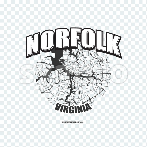 Norfolk, Virginia, logo artwork Stock Photo
