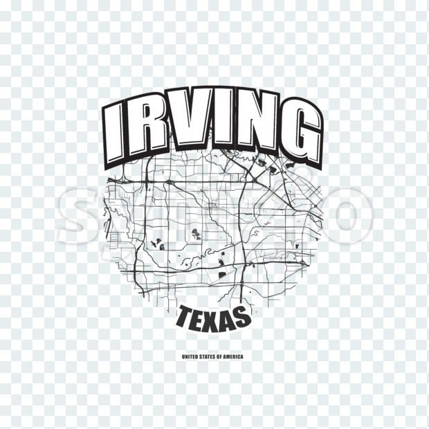 Irving, Texas, logo artwork Stock Photo