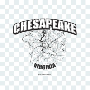 Chesapeake, Virginia, logo artwork Stock Photo