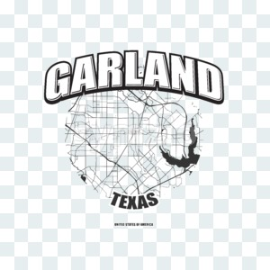 Garland, Texas, logo artwork Stock Photo