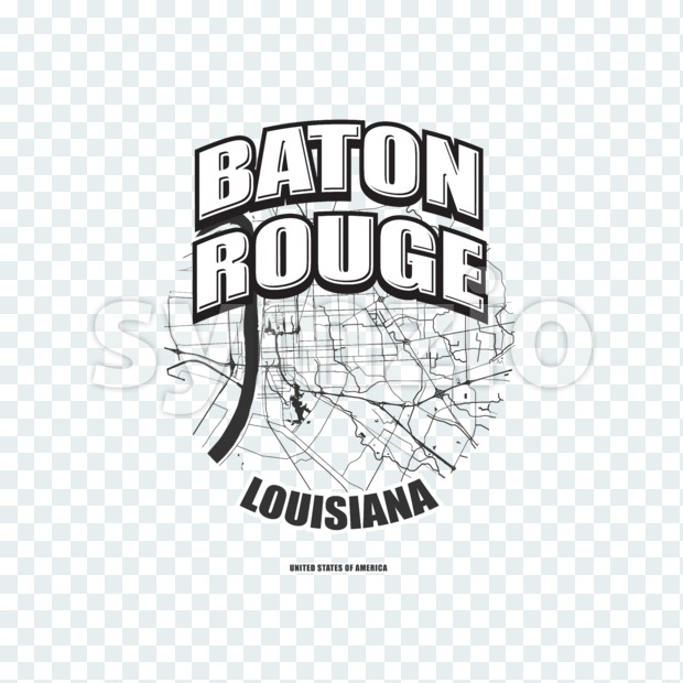 Baton Rouge, Louisiana, logo artwork Stock Photo