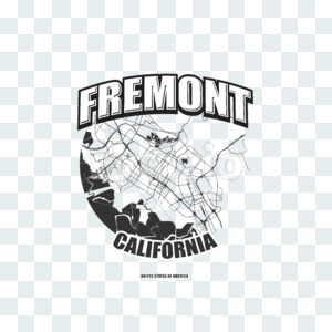 Fremont, California, logo artwork Stock Photo
