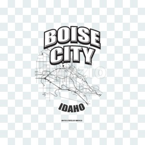 Boise, Idaho, logo artwork Stock Photo