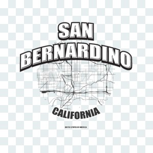San Bernardino, California, logo artwork Stock Photo