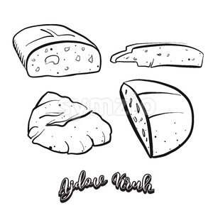 Hand drawn sketch of Ajdov Kruh food Stock Vector
