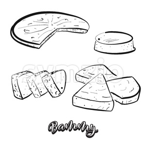 Hand drawn sketch of Bammy bread Stock Vector