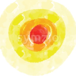 Red and Yellow watercolor background Stock Vector
