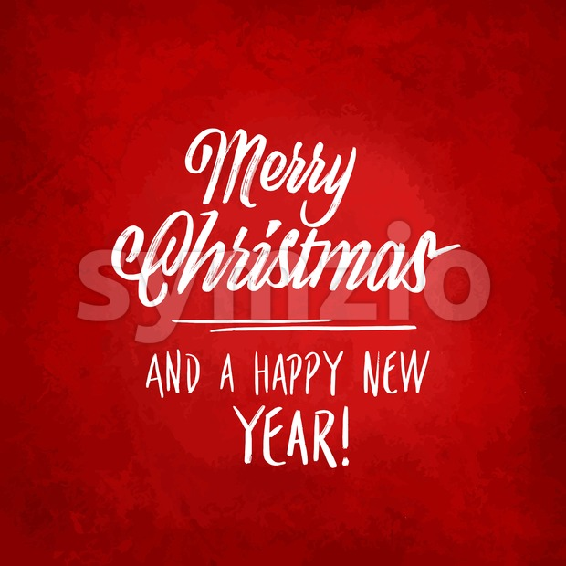 Merry christmas lettering on red background Stock Vector