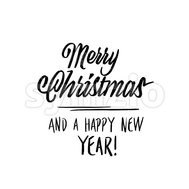 merry christmas new year lettering Stock Vector