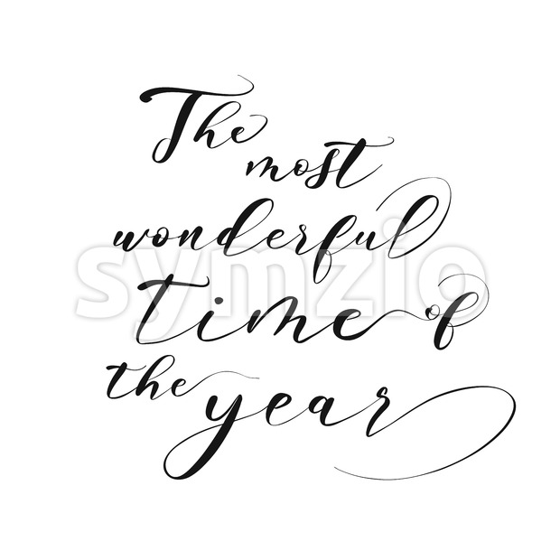 The most wonderful time of the year lettering Stock Vector