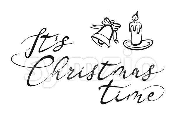 It's Christmas time lettering Stock Vector